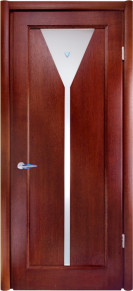 Doors with the glass Lotos