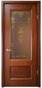 "Doors with the glass ""Faberge"""